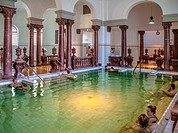 Thermal baths and pools, Szechenyi Baths, Budapest, Hungary