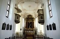 Germany, Bavaria, Berchtesgaden, Konigssee, St. Bartholoma, Interior of chapel