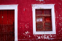 Brazil, Near Recife, Olinda, Red House
