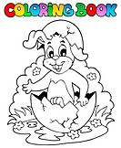 Coloring book with Easter theme 5 _ picture illustration.