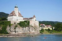Castle on a hill, Schonbuhel Castle, Danube River, Spitz, Wachau, Lower Austria, Austria