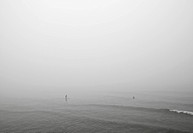 Man in Foggy Ocean