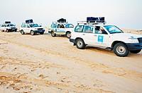 Cars  Sahara Desert, Douz, Tunisia.