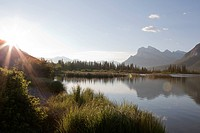 Sunrise over Vermillion Lake in summer