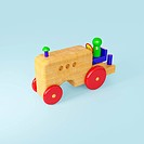Wooden toy farm tractor