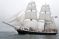 The Morgenster ship sailing at the Tonnerres de Brest 2012 - International maritime festival, Brest France
