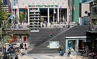 Escalator to below ground level shopping centre, Rotterdam, Netherlands