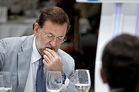 The Spanish President, Mariano Rajoy during a meeting