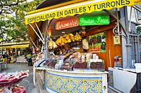 Stand outside the Mercado Central  Valencia  Comunidad Valenciana  Spain.
