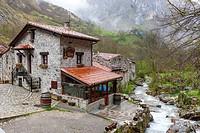 Bulnes La Villa, Cabrales, Picos de Europa National Park, Asturias, Spain