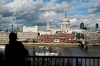 St Paul's Cathedral and London skyline from Tate Modern