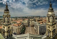 Basilica - view from the top, Budapest, Hungary