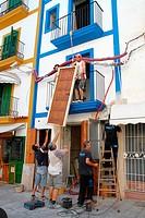 Spain , balearic island , building site , worker
