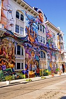 San Francisco, California - Mural, Women´s Building, Mission District