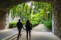 Paris, France, Women Walking on Pathway in Promenade Plant&#233;e park