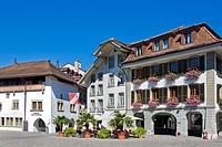 Switzerland, Canton Bern, Thun, Rathausplatz