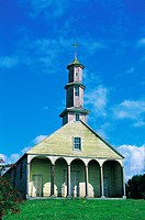 Chile, Church of Vilupulli, Chiloe Archipelago, World Heritage by Unesco, Chile, South America