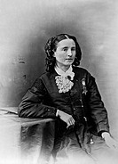 1832_1919. American physician and woman´s rights advocate. Photographed wearing the Medal of Honor, c1865.