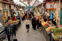 Main hall, Jewish Mahane Yehuda Market, Jerusalem, Israel, Middle East, Southwest Asia