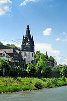 Parish Church of St. Mariae Himmelfahrt, Niederheimbach, Upper Middle Rhine Valley, a Unesco World Heritage Site, Rhineland-Palatinate, Germany, Europ...