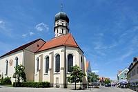 Parish Church of the Assumption, Schongau, Pfaffenwinkel, Upper Bavaria, Bavaria, Germany, Europe, PublicGround