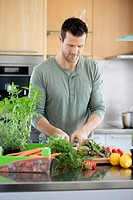 Man preparing food in the kitchen