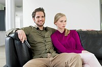 Couple watching television