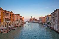 View of canal and buildings in Venice, Italy