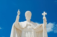 statue of the pope in the sanctuary of Fatima