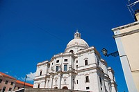 famous Pantheon or Santa Engracia church in Lisbon