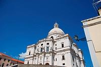 famous Pantheon or Santa Engracia church in Lisbon