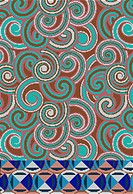 Pixilated swirl design
