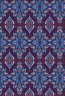 Blue and coral repetitive design