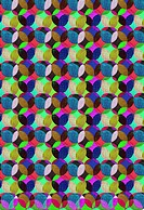 Colorful overlapping dots design