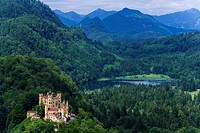 Hohenschwangau Castle, Schwangau, Bavarian Alps, Upper Bavaria, Bavaria, Germany, Europe