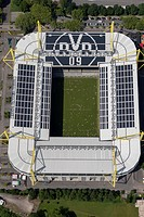 Aerial view, SignalIduna Park stadium, Signal Iduna Park stadium, formerly known as Westfalenstadion stadium, Dortmund, Ruhr area, North Rhine-Westpha...