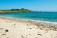 Bar beach between St. Agnes and Gugh, Isles of Scilly.