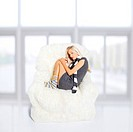 girl sleeping in arm_chair