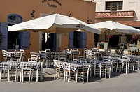 outside restaurant of Kouklia, Paphos district, Cyprus, Eastern Mediterranean Sea