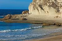 Cabo de Gata, Cala de Enmedio, Beach, Cabo de Gata-Nijar Natural Park, Almeria, Spain, Europe