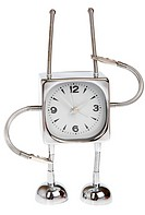 Metal alarm_clock on a white background