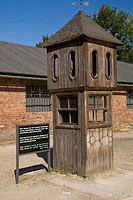 Guard booth inside the auschwitz i former nazi concentration camp, auschwitz poland