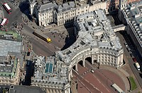 Admiralty Arch, London, UK, aerial photo