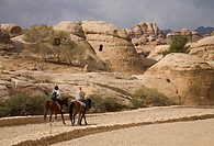 Tourists Ride On Horses To Explore, Petra Jordan
