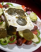 Greek salad, Santorini, Cyclades, Greece, Europe