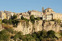 View Of The Old Buildings In The Old Part Of The City, Cuenca Castile_La Mancha Spain