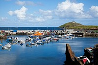 The harbour and the lighthouse, ballycotton county cork ireland