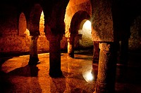 Moorish 'aljibe' water cistern in the cellar of the Palacio de las Veletas, Cáceres  Extremadura, Spain