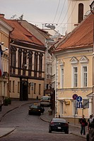 street of the old city in Vilnius, Lithuania
