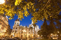 City Hall of Valencia at dusk, Spain